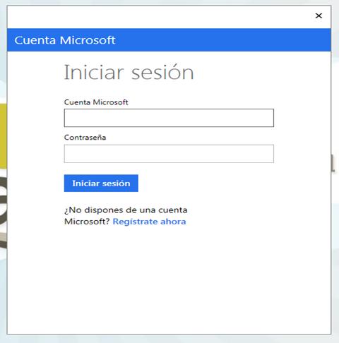 Entrada con cuenta Microsoft